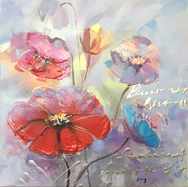 Wall Decor Painting A Beautiful Day with Flowers I by International Image & Canvas
