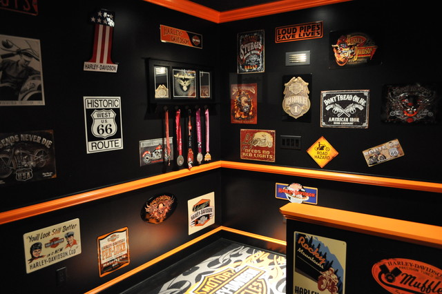 Harley Davidson Themed Theater Contemporary