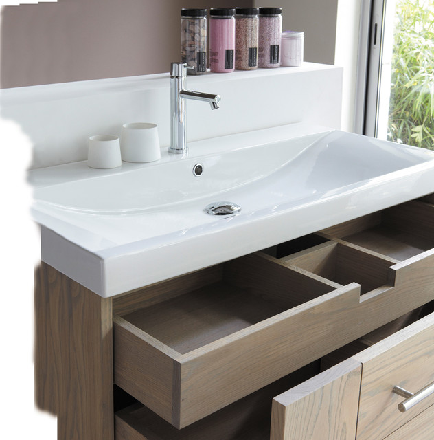 Line Art Bathroom : Soft by line art wall mounted solid oak vanity