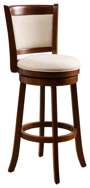 Davis Fabric Swivel Backed Bar Stool.