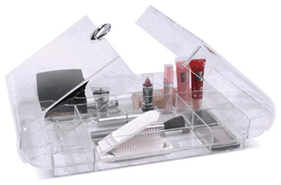 Folding Acrylic Cosmetic Organizer.