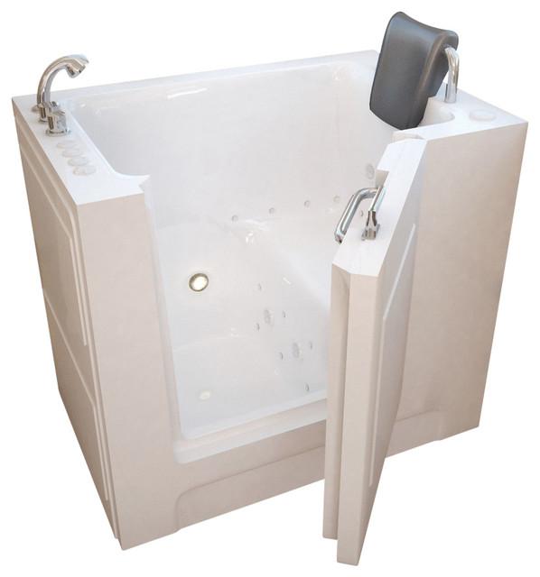 27x39 Meditub Walk-In Ada Bathtub, Left, Air Massage System.