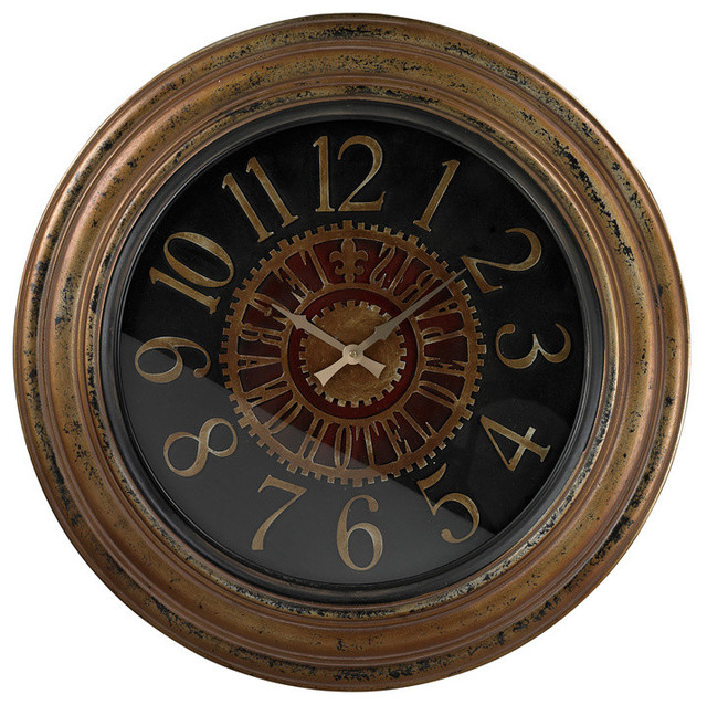 sterling industries 130 003 large clock w distressed handpainted frame traditional wall