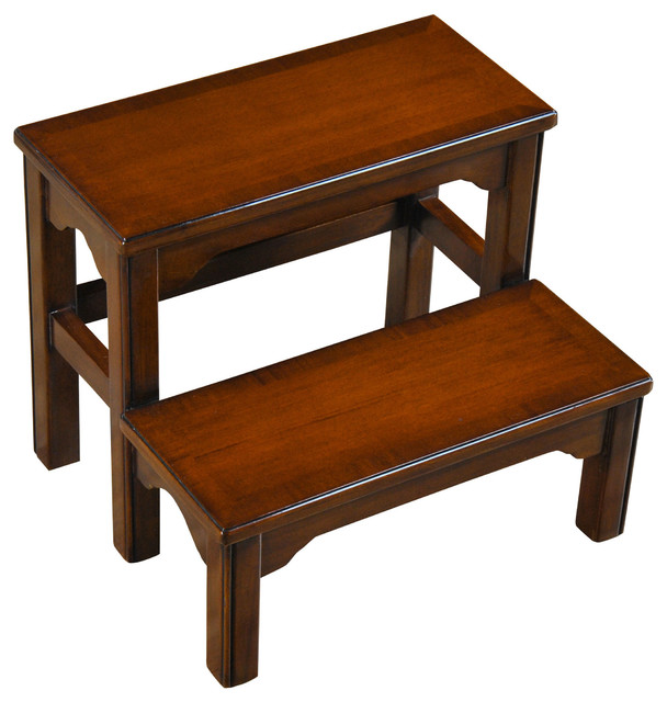 Niagara Furniture Mahogany Bed Step traditional-ladders-and-step-stools  sc 1 st  Houzz : stepping stool for bed - islam-shia.org