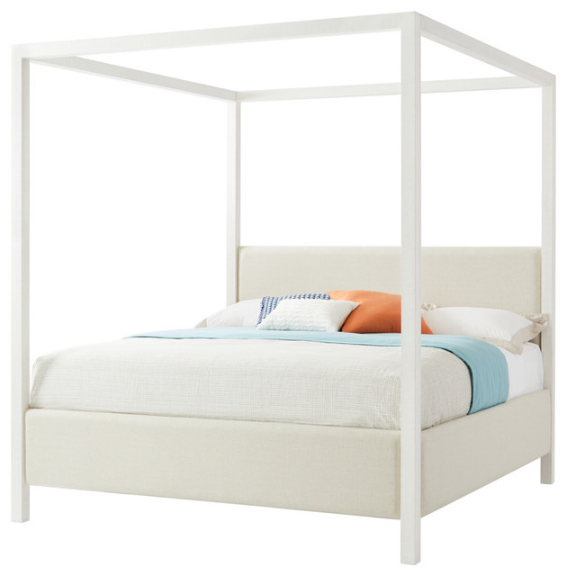 Stanley Panavista California King Archetype Canopy Bed In Alabaster 704-23-48.