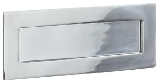 Letter Plate, 255mm, Polished Chrome