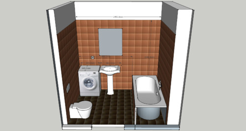 Need help for small bathroom for Small bathroom designs with washing machine