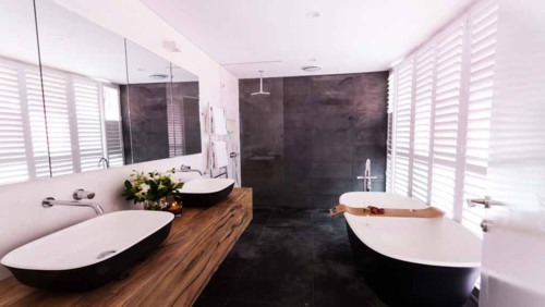 Matching floor tiles with timber flooring