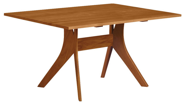 Copeland Audrey Fixed Top Table 40X60 Natural Walnut Contemporary Dining Tables