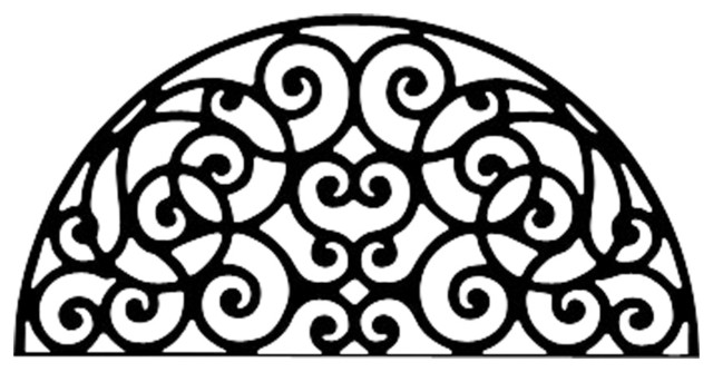 Half Round Iron Wall Art Style 198 - Mediterranean - Outdoor Wall ...