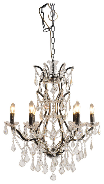 Iron Victorian Pendant With Crystal Accents Contemporary Chandeliers