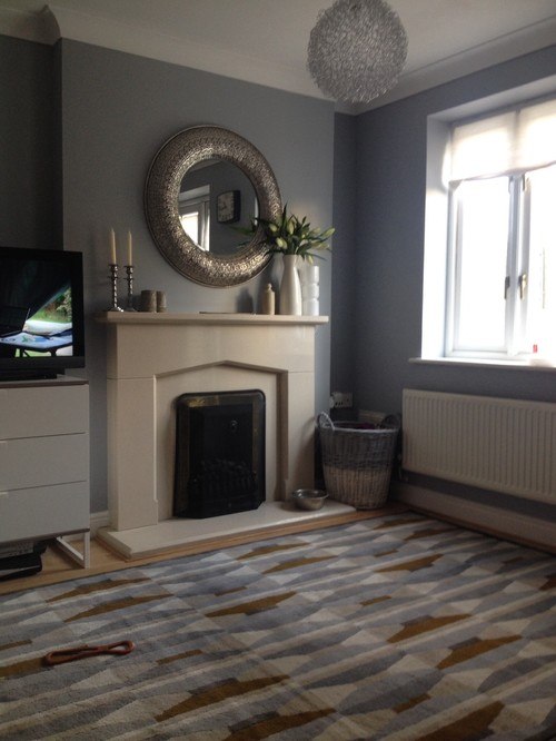 Adding colour to a beige living room for Dulux natural hessian living room