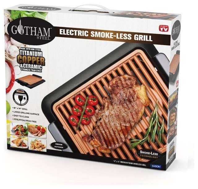 "Gotham Steel 1618 Non-Stick Electric Smokeless Grill, 16""x14"", As Seen On Tv."
