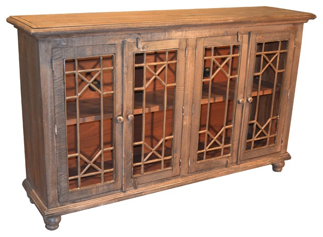 Door Multi Purpose Cabinet Sideboard China Cabinet rustic-buffets ...