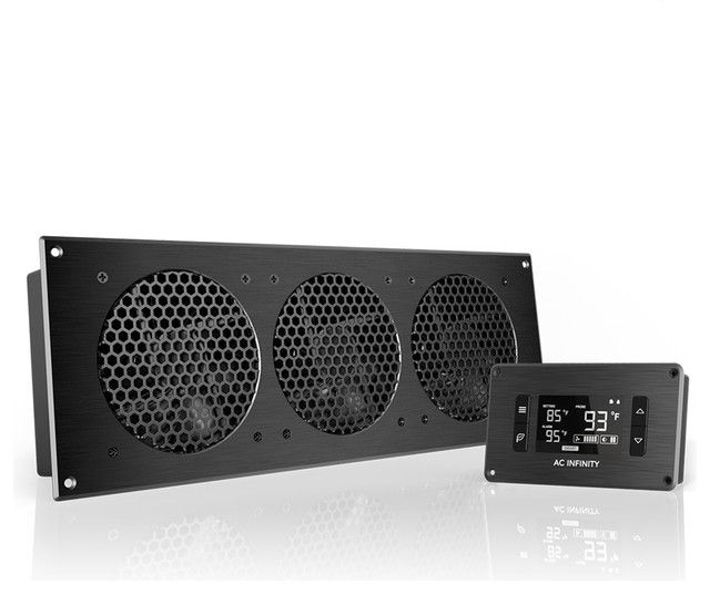 """AC Infinity AC Infinity AIRPLATE T9, Home Theater and AV Cabinet Cooling Fan System 18"""" - Home ..."""