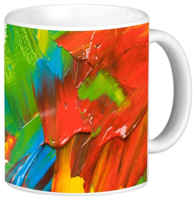 Gorgeous Abstract Oil Painting On Canvas Coffee Mug Contemporary