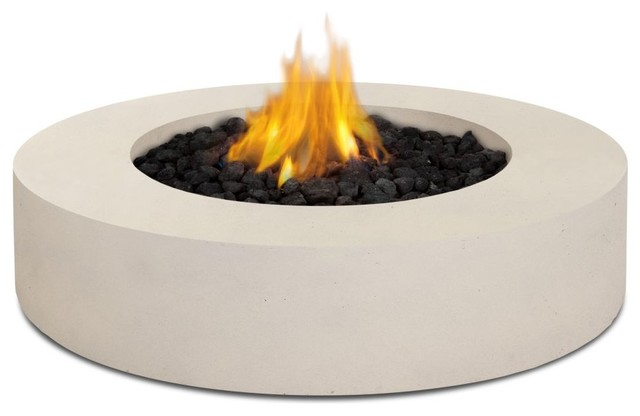 real flame mezzo round propane fire pit antique white pits - Round Fire Pit
