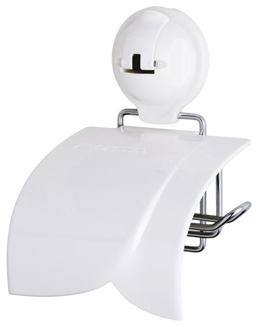 No Drill Toilet Paper Holder With Cover And Powerful