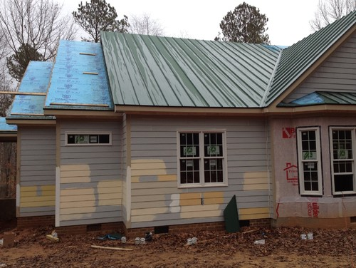 Exterior paint color - Exterior paint colors with green metal roof ...