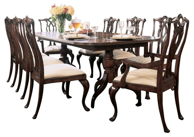 American Drew Cherry Grove 10-Piece Dining Room Set in Antique ...