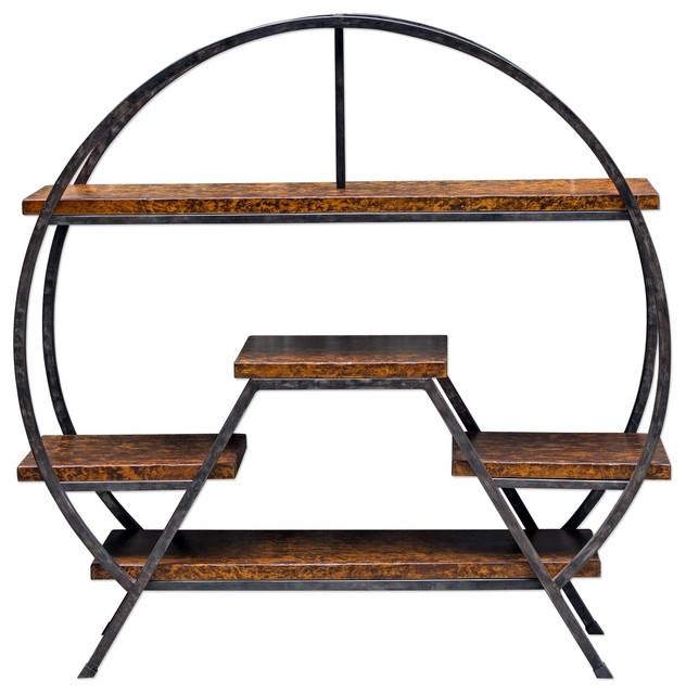 Elegant Round Floating Shelf Etagere Open Circle Shelves