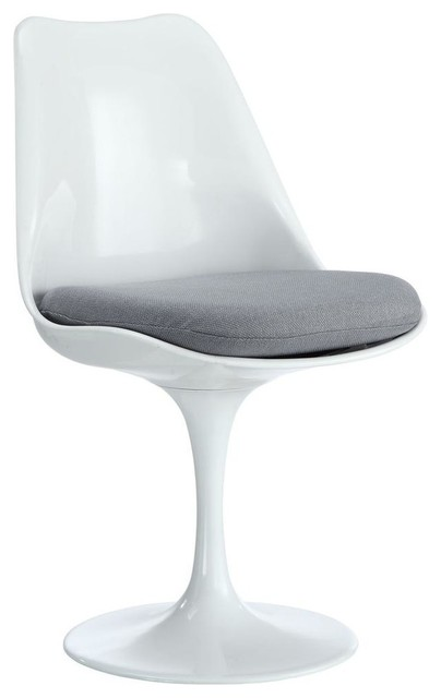 Lippa Dining Fabric Side Chair, Gray.