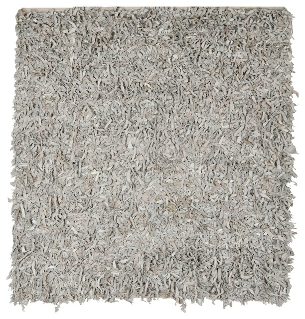 Safavieh Leather Shag White Flokati Rug Lsg511c 6sq