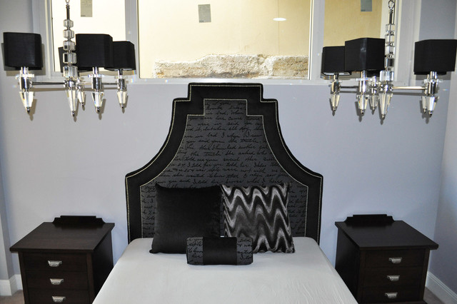 Contemporary black and white bedroom suite for Black bedroom suite