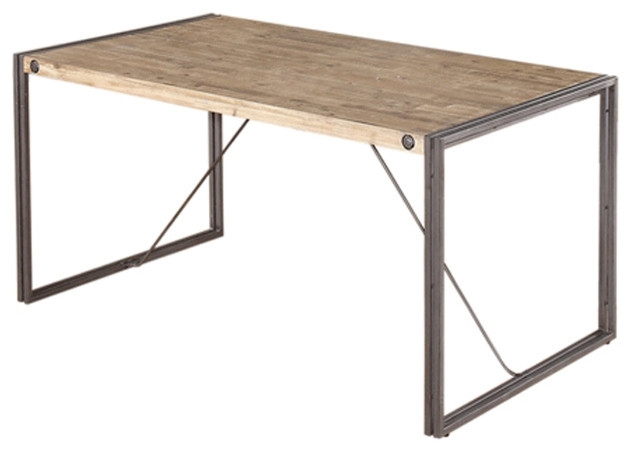 Moe's Home Brooklyn Dining Table Small Industrial Dining Tables Best Dining Room Brooklyn