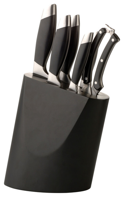 Charming Geminis 7 Piece Knife Block Modern Knife Sets