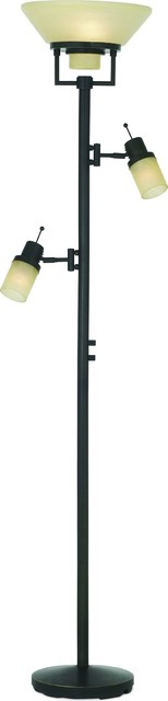 Tor-Techno Chic Floor Lamp, Florida Bronze.