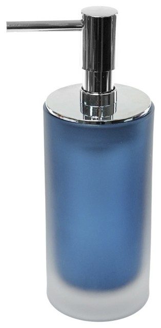 Frosted Glass Soap Dispenser - Contemporary - Soap & Lotion ...