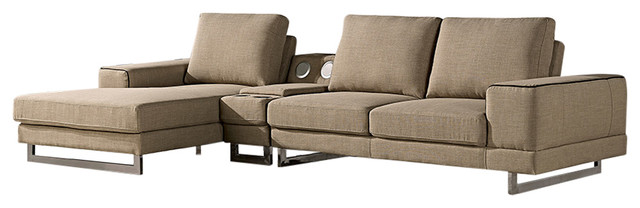Fantastic Adele Beige Sectional Right Ncnpc Chair Design For Home Ncnpcorg