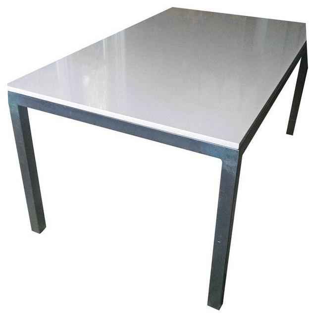 Room board parsons quartz table 60x36 contemporary dining room board parsons quartz table watchthetrailerfo