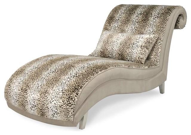 Aico Hollywood Swank Chaise By Michael Amini, Jaguar.