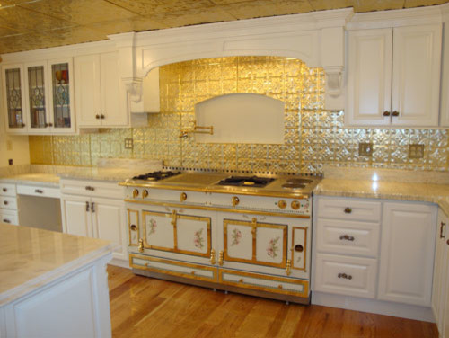Tin Backsplash   Kitchen Backsplashes Eclectic Kitchen