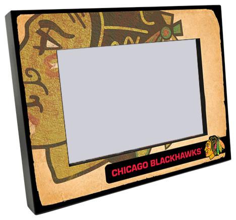 Chicago Blackhawks Vintage Style Wooden 4x6