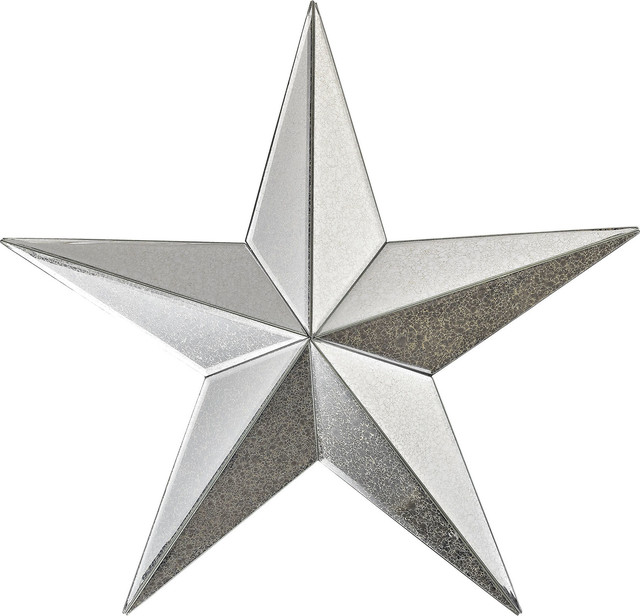 Wish Maker Antiqued Mirrored Star Wall Decor 18