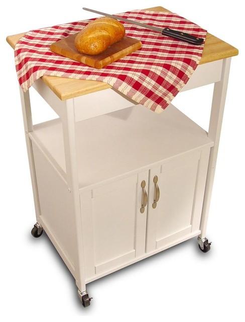 Catskill Craftsmen Kitchen Trolley W White Finish Amp Open
