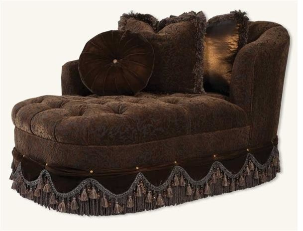 Dark chocolate velvet chaise for Ave six curves velvet chaise lounge