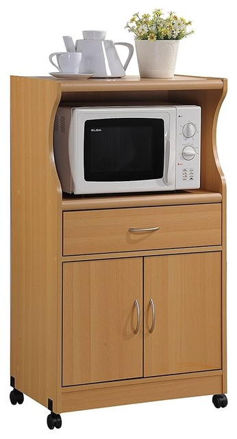 Modern Microwave Cart With 1 Drawer 2