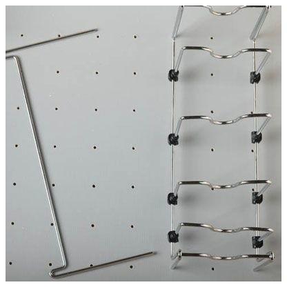 Rev-A-Shelf 5dcd-1-Cr Deep Drawer Peg Board Adjustable Pot And Pan Organizer.