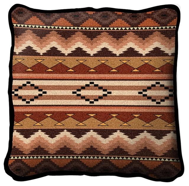 Decorative Pillows Southwestern : Southwest Sampler Clay Pillow - Southwestern - Decorative Pillows - by Fine Art Tapestries