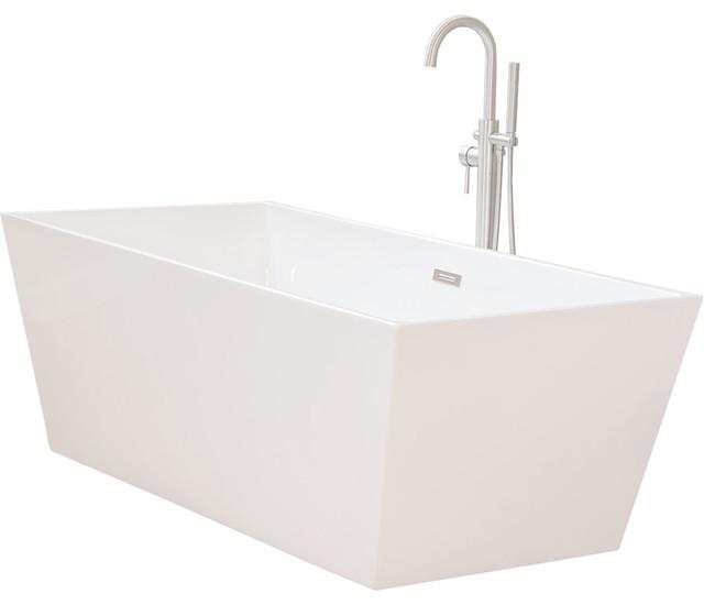 Woodbridge 67 39 39 freestanding bathtub contemporary soaking tub contemporary bathtubs by for Woodbridge 54 modern bathroom freestanding bathtub