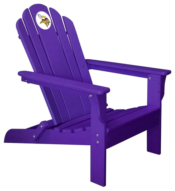 Minnesota Vikings Adirondack Chair Purple Contemporary