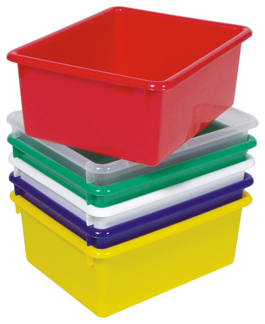 "Steffywood Home Plastic 15"" Cabinet Storage Tub 5""Hx10 1/2""Wx13""L - Contemporary - Storage Bins ..."