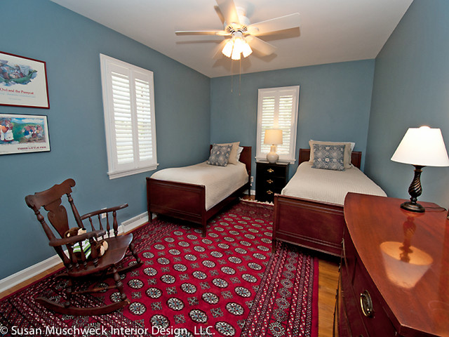 Twin Bed Guest Bedroom Traditional
