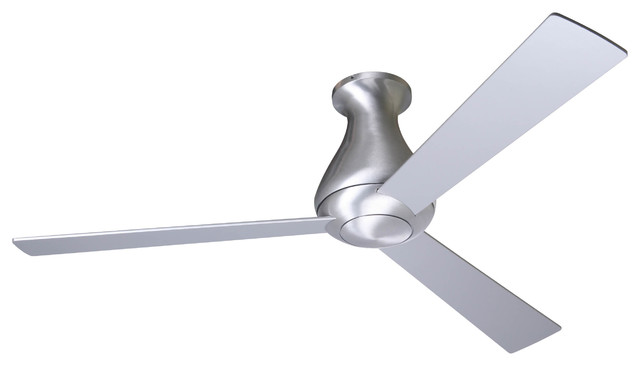 Modern Fan Company Altus Hugger Brushed Aluminum 52 Ceiling Fan + Wall Control.
