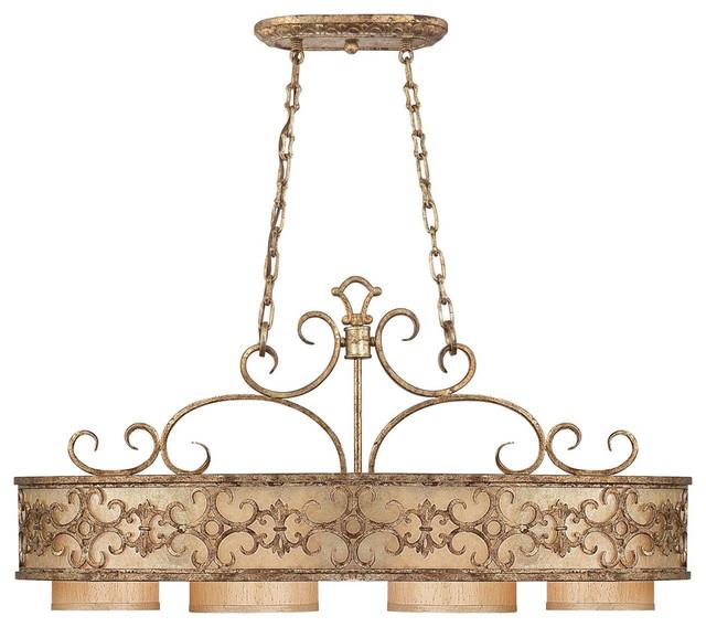 Savoy House 1 509 4 128 Savonia 4 Light Oval Chandelier