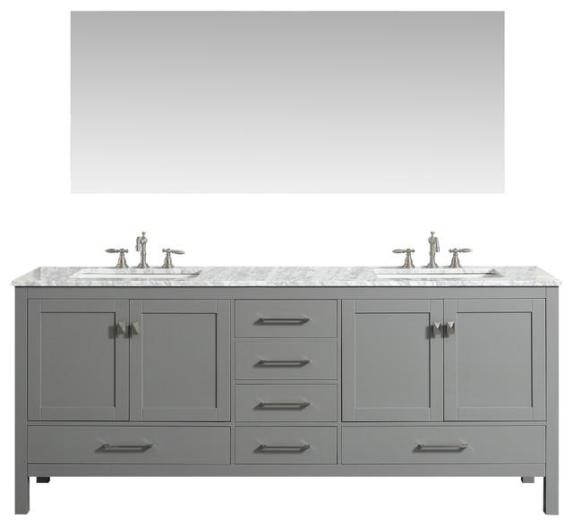 Eviva Lugano 84 Gray Double Vanity by Eviva LLC